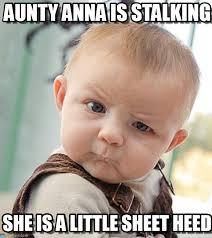 Anna Meme - aunty anna is stalking sceptical baby meme on memegen
