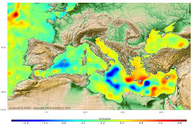 Map Of Mediterranean Sea Regional Trends Aviso