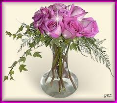 Lavender Roses Pretty Vase Of Lavender Roses Pictures Photos And Images For