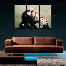 large framed modern abstract painting monkey gorilla canvas