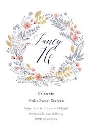 free printable sweet 16 birthday invitation templates greetings