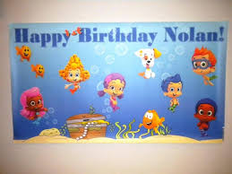 bubble guppies birthday banner decoration u0026 furniture unique