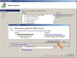 smtp configuration windows 2008