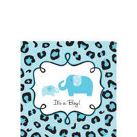 Wild Safari Blue Baby Shower by Blue Safari Baby Shower Party Supplies Party City