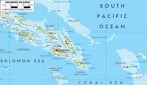 map of the islands map border solomon islands