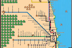 Chicago City Limits Map by Famous Subway Maps Reimagined As Vintage Super Mario Brothers