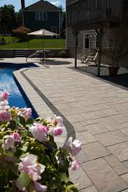 Unilock Patio Designs by Beacon Hill Flagstone With Series 3000 Homeowner Pool Decks
