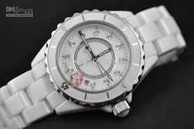 ceramic bracelet watches images White watches for men luxury mens white ceramic bracelet date jpg