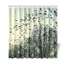 Shower Curtains With Birds Interestprint Home Bathroom Decor Vinatge Anchor Bird Shower