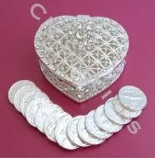 arras de boda wedding arras silver plated arras para boda unity coins arras