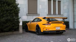 porsche signal yellow porsche 991 gt3 rs 8 mai 2017 autogespot