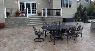 Backyard Concrete Patio Patios Concrete And Masonry Contractor Millstone Nj 08535
