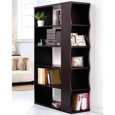 Open Bookshelf Room Divider Open Bookcase Room Divider Zig Zag Large White With Black Gloss