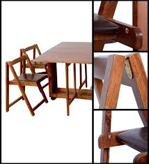 Folding Table With Chairs Inside Portable Dining Table And Chairs Furniture For Small Spaces