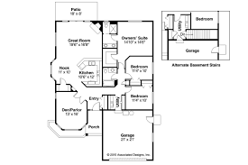 Basement Entry Floor Plans Traditional House Plans Lynden 30 143 Associated Designs