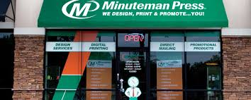 minuteman press printing franchise business services marketing