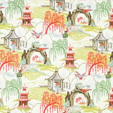 contemporary orange toile upholstery fabric by popdecorfabrics