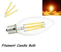 e17 led light bulb super quality 2w 4w 110v e17 led filament candle bulb warm cold
