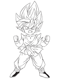 free coloring pages goku jr dragonball special dragon