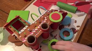 go create gingerbread train christmas craft youtube