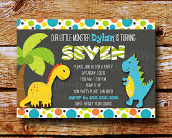 How To Design Invitation Card Imposing Dinosaur Birthday Party Invitations For Your Inspiration