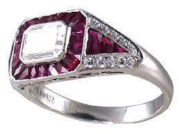 antique engagement rings art deco ruby ring r0571