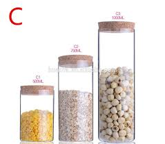 Clear Glass Canisters For Kitchen High Quality Unbreakable Kitchen Use Hermetic Glass Storage Jar
