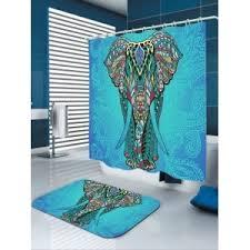 colorful w71 inch l79 inch elephant flower waterproof fabric