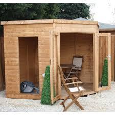 Summer Garden Sheds - wooden corner sheds u2013 next day delivery wooden corner sheds