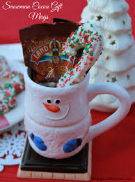 Homemade Christmas Presents homemade christmas gift cocoa mug with peppermint stir sticks