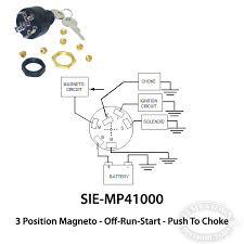 mercury mariner ignition switch off run start