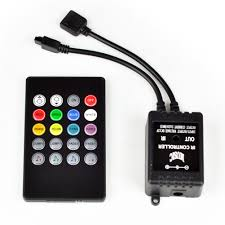 rgb led strip lights 12v music sound activated rgb led controller for light strip 20 key