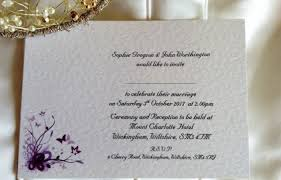 Purple And Silver Wedding Invitations Wedding Invitations Affordable Personalised Wedding Invites