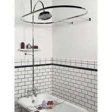 Bathroom Shower Rods Can A Modern Freestanding Bathtub Also Be A Shower