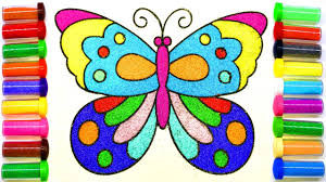 butterfly sand painting how to make sand painting sand