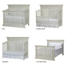 When To Convert Crib To Toddler Bed Baby Cache Vienna 4 In 1 Convertible Crib Antique White Babies