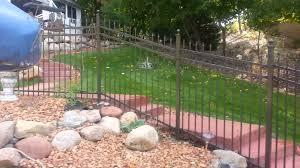 bronze ornamental wrought iron fence oaks minnesota