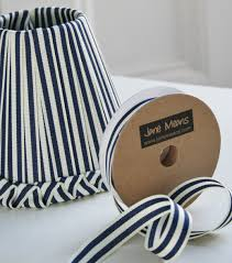 navy and white striped ribbon a ribbon lshade means