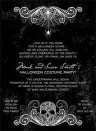 creepy cobwebs halloween invitation halloween invitations
