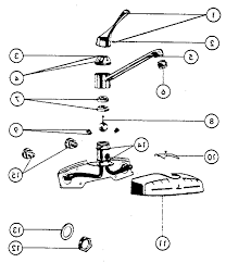 peerless kitchen faucet parts diagram order replacement parts