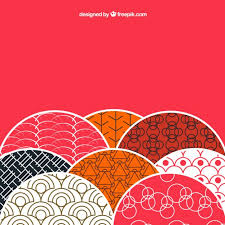 japanese style background with patterns in japanese style vector free download