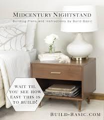 modern night table build a midcentury nightstand u2039 build basic