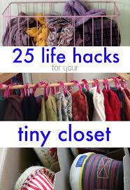 minimal closet space don u0027t despair check out 25 lifehacks for