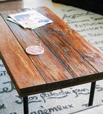 Industrial Wood Coffee Table by Reclaimed Wood Rectangular Industrial Coffee Table Features