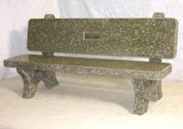 concrete memorial benches foter