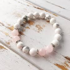 rose quartz crystal bracelet images Help to release anger genuine white howlite rose quartz jpg