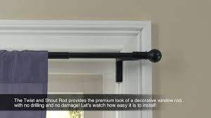 Window Rods For Curtains Twist And Shout Smart Curtain Rod Hardware Walmart Com