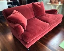 english roll arm sofa slipcover restoration hardware english roll type sofa red velvet down