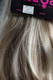 ponytail clip in on hair piece ash brown blonde mix 10 613