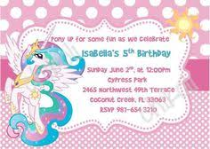 my little pony invitation for birthday party by pixelparade 9 99